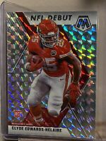 2020 Panini Mosaic Silver Prizm  Refractor Clyde Edwards-Helaire Debut SP Card