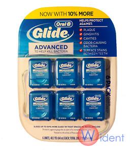 6Pk Oral B Glide Dental Pro-Health Advanced Floss