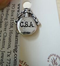 Sterling Silver 15x12mm Civil War Confederate Soldier Canteen CSA Tie Tack Pin
