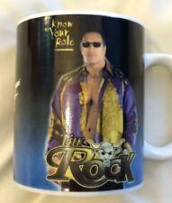 Wwe / Wwf the rock cup coffee mug Dwayne Johnson Rare Wrestling Tea
