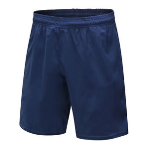 Men Solid Color Elastic Sports Shorts Fitness Running Training Quick Dry Pants