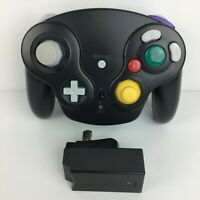 3rd Party Black Wavebird Wireless Controller - NINTENDO Gamecube