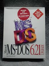 Microsoft MS-DOS 6.21 Upgrade on 3.5 inch diskettes COMPLETE from 1994 MSDOS