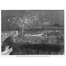 La Svezia FUOCHI D'ARTIFICIO visualizzazione per ARCTIC Explorer, Nordenskjold-antica stampa 1880