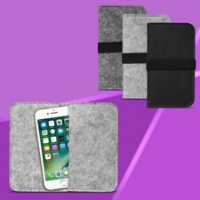 Filz Hülle für Smartphone Tasche Cover Case Schutzhülle Handy Sleeve Filztasche