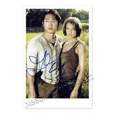 Steven Yeun & Lauren Cohan aus Walking Dead - Autogrammfotokarte [A2] 