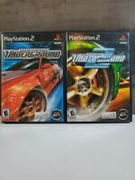 Need For Speed Underground 1 & 2 Sony Playstation 2 ps2 Complete True Set Lot