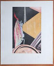 Belle lithographie abstraite EA sur Arches - Signature crayon à identifier