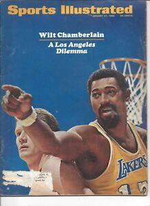 1969 Sports Illustrated basketball magazine, Wilt Chamberlain, Los Angeles POOR