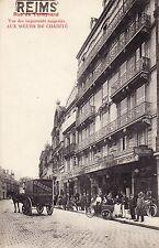 CPA 51 REIMS Rue de Talleyrand Vue des importants magasins AUX SOEURS DE CHARITE