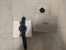Fossil Sport Silicone Smart Watch 43mm Blue Android wearos wear Bluetooth WiFi