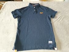 MENS NAVY BLUE SUPERDRY POLO SHIRT - SIZE LARGE - THE SUPER CONCORDE