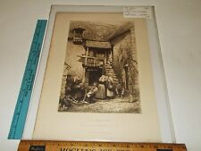 Rare Antique Vintage 1881 The Sabot Shop Mortimer L Menpes Etching Art Print