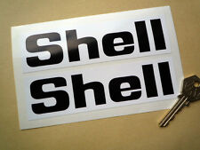 Shell Angular Style 6inch Black & White Text Classic Racing Rally Car Sticker