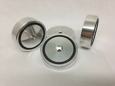 4 x ALUMINIUM isolating feet IF50-15AL-O for turntables and speaker !!!