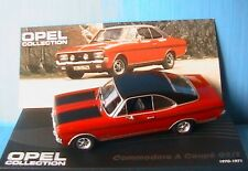 OPEL COMMODORE A COUPE GSE 1970 IXO 1/43 ALTAYA ROUGE