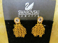 SWAROVSKI CLIP ON MESH DESIGN EARRINGS NEVER WORN