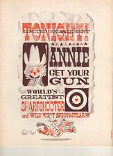"""Lee Remick   Souvenir Program   """"Annie Get Your Gun""""  1965 Stock"""