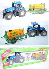 Siku 8511 New Holland T8.390 Traktor mit AMAZONE Feldspritze, 1:32 Sondermodell