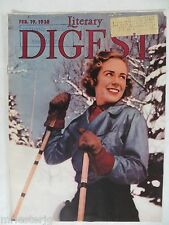 """The Literary Digest  February 19, 1938  """"Ski Girl in Quebec"""""""