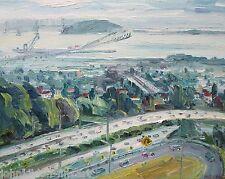 East Bay View Hiller DR California Plein Air Impressionism Landscape Kilduff