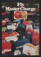 1972 Fly MASTER CHARGE Credit Card TWA UNITED PAN AM AMERICAN AIRLINE VINTAGE AD