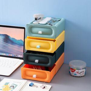 4 Drawer Type Desktop Storage Box Storage Office Desk Storage Dormitory Shelf