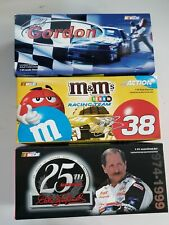 Lot of 3 Diecast 1/24 Jeff Gordon Carolina Ford Elliott Sadler Dale Earnhardt