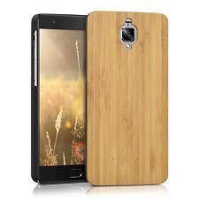 kwmobile Holz Case für OnePlus 3 3T Bambusholz Hellbraun Hülle Handy Cover
