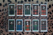 Cigarette Card : Mitchell : Clan Tartans (2nd Series) (1927) : Full Set (EX)