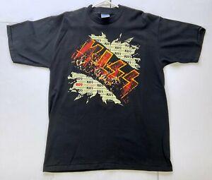 Vintage KISS Band T-Shirt Unplugged Album Black XL UNWORN Graphic Shirt 1996