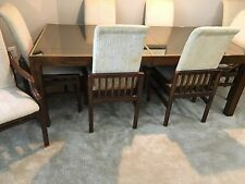 Henredon Dining Room Set Nutmeg Color Scene II Table 6 Chairs