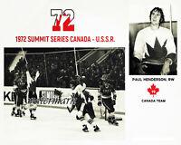 NHL 1972 Summit Series Team Canada Paul Henderson Winning Goal 8 X 10 Photo Pic