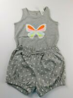 NWT Gap Baby Toddler Girl's 2Pc Butterfly Tank Top/Bubble Shorts 2 Yr 4 Yr New
