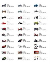 Personalized Address Labels Motorcycles All Pictures Buy 3 get 1 free (d3)