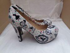 Jumex Ladies Khaki Patterned Platform Stiletto High Heel Shoes - UK 5/EU 38