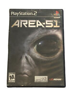 Area 51 (Sony PlayStation 2, 2005) PS2 Black Label Video Game Complete, Reg Card