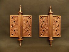 Antique Russell & Erwin Cast Bronze Hinge Set c.1879, LH Swing.