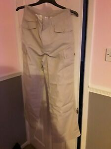 Girls Chino Trousers Beige Age 14 Brand New Without Tags