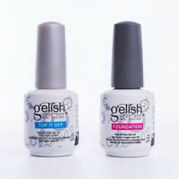 Gelish polish 15ml Top Coat Foundation Base coat Soak off Gel Nail Polish