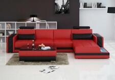 Ecksofa Ledersofa Big XXL U Form Wohnlandschaft Sofa Couch Garnitur Neu H2211B