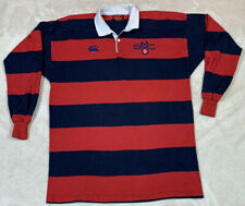 Canterbury of New Zealand Gaels Polo Rugby Shirt Striped Long Sleeve Mens SZ XL