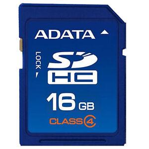 16GB Original ADATA SD Card Class4 SDHC Memoria Camera GPS Tablet