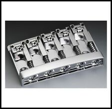 Schaller 5-String Roller Bass Guitar Bridge Chrome 12140200 3D-5