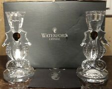 "*NEW* Waterford Crystal SEAHORSE Set of 2 Candle Sticks 6"" NEW IN THE BOX"