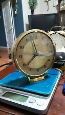 """Vintage """" Wehrle '' Hand Wound Alarm Clock Runs 3 1/2''"""