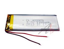3.7V 1100 mAh Li-polymer battery Li-Po ion 422970 for MP3 MP4 PSP GPS PAD PDA