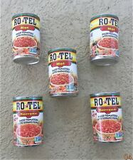 5 ROTEL Hot Diced Tomatoes With Habaneros & With Serrano Pepper Assorted Regular