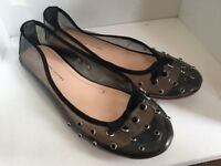Marc Jacobs Size 10 40.5 Clear Studded Slip On Ballet Flats