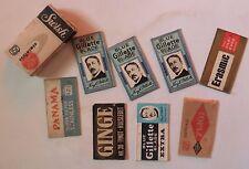 Vintage SWISH BLADES FOR Safety Razor BOX 8 BLADES DIFFERENT MAKES